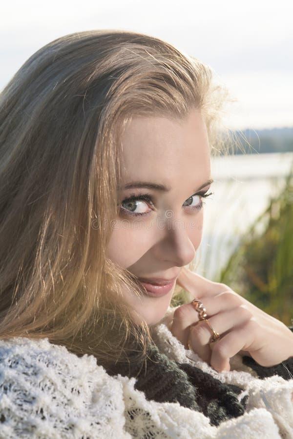 Download Portrait of Cute Female stock image. Image of fall, femininity - 36500343