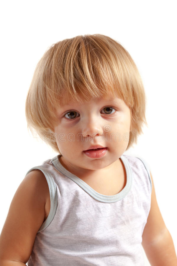 Download Portrait Of Cute Little Boy Stock Photo - Image of blonde, playful: 22378054