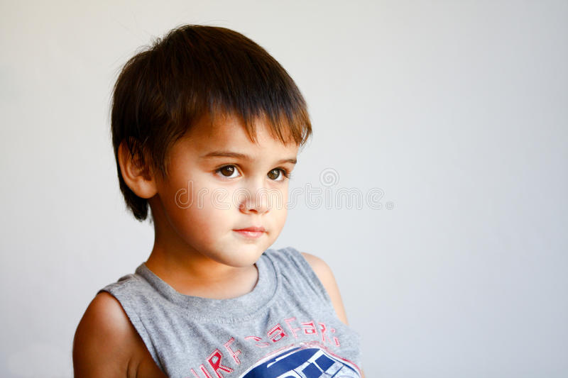 Portrait of cute little boy royalty free stock photos