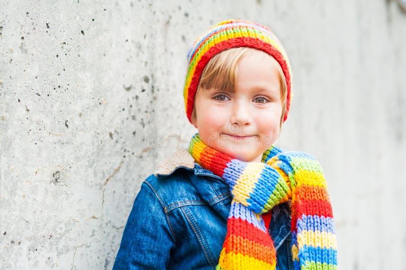 Portrait of a cute little boy royalty free stock photo
