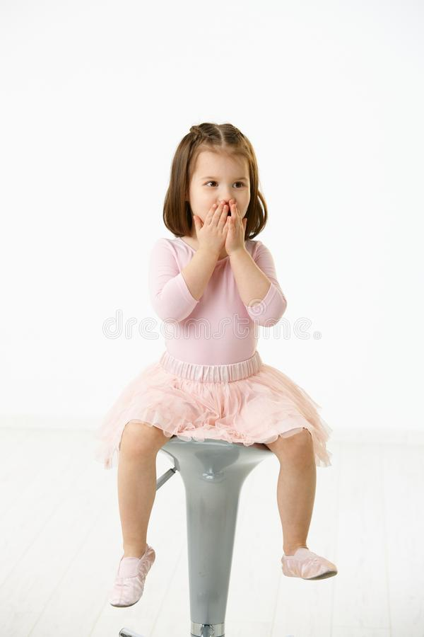 Portrait of cute little girl stock photography