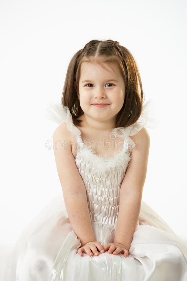Portrait of cute little girl royalty free stock photo