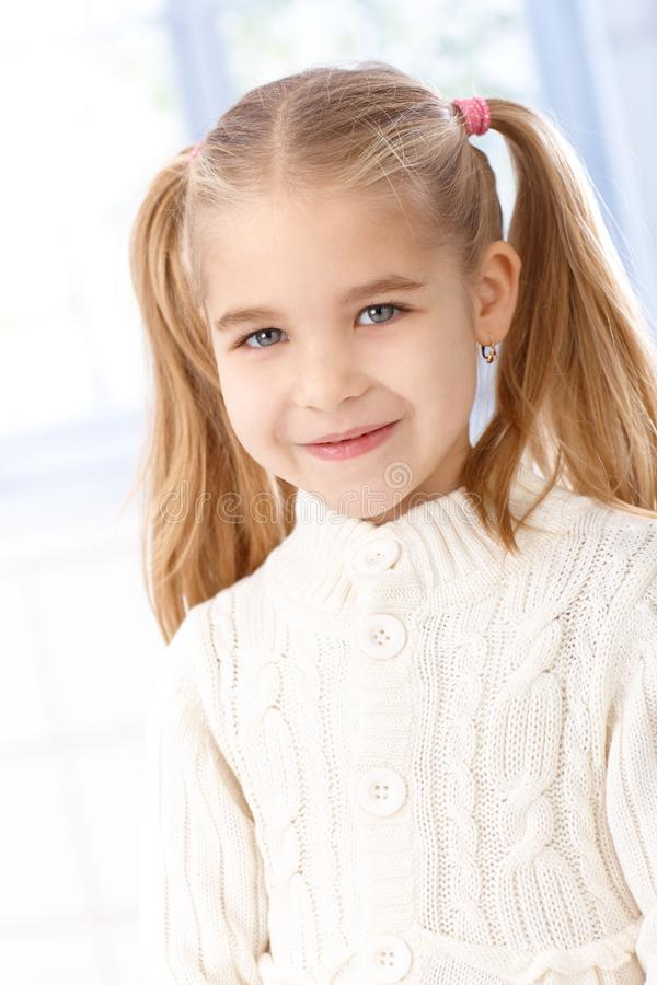 Download Portrait Of Cute Little Girl Smiling Stock Image - Image: 25118213