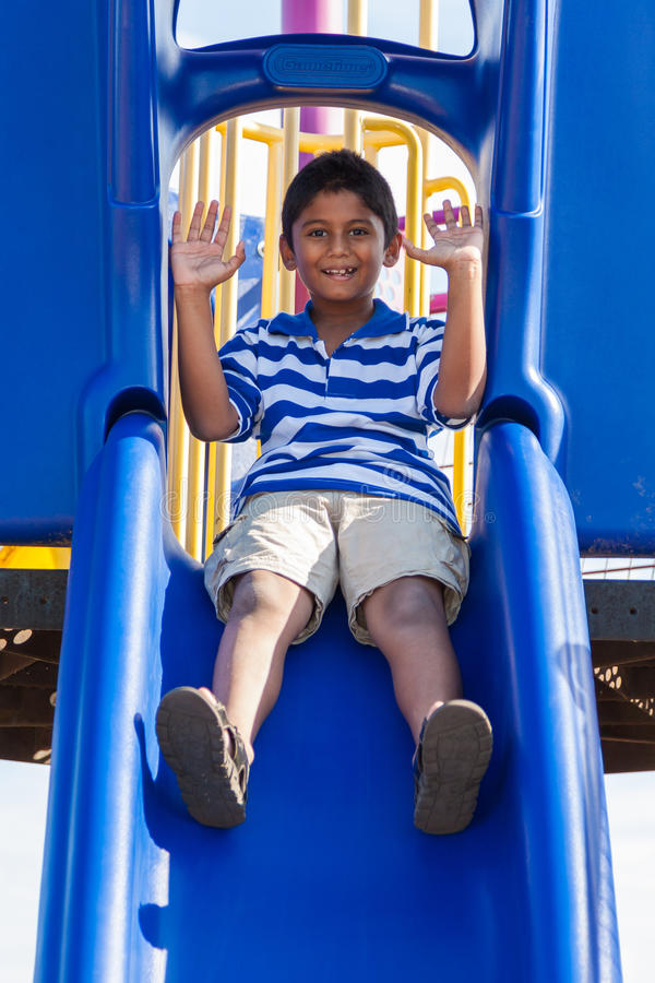 Download Portrait Of A Cute Little Indian Boy At Playground Stock Image - Image: 26548719