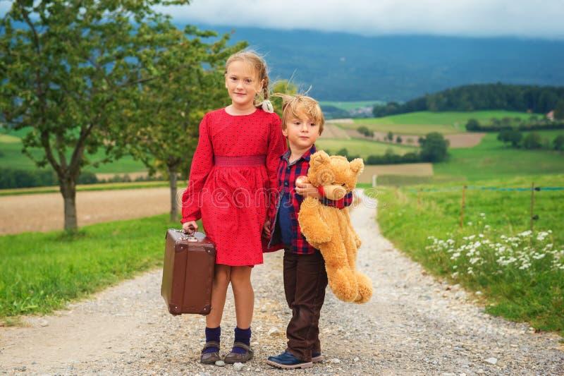 Portrait of a cute little kids royalty free stock photo