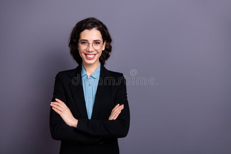 Portrait of cute millennial entrepreneur have enterprise financier ready solve soltuions decide decision smart clever. Portrait of cute millennial entrepreneur stock images