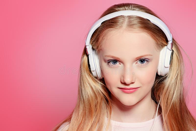 Cute blonde teenager royalty free stock photography