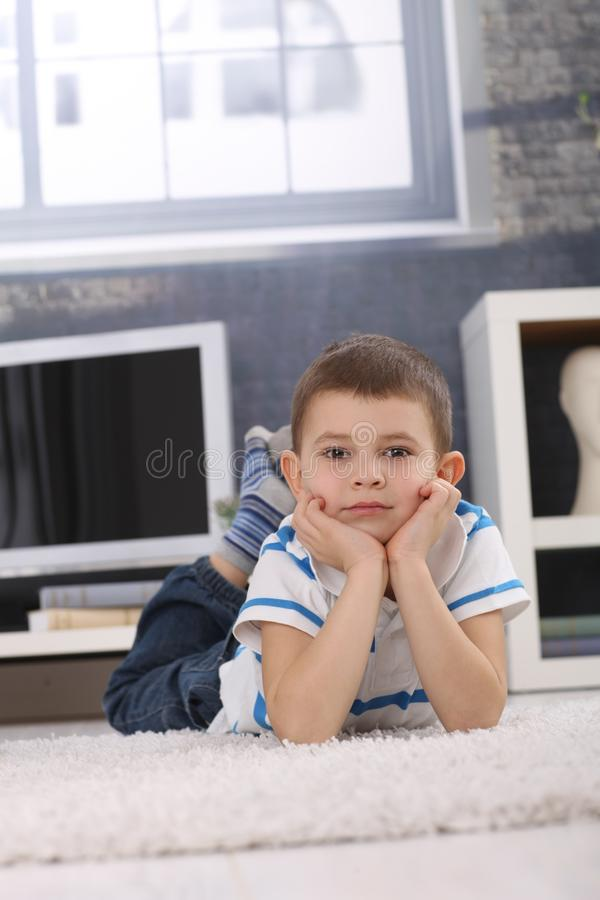 Portrait of cute preschooler boy royalty free stock photos