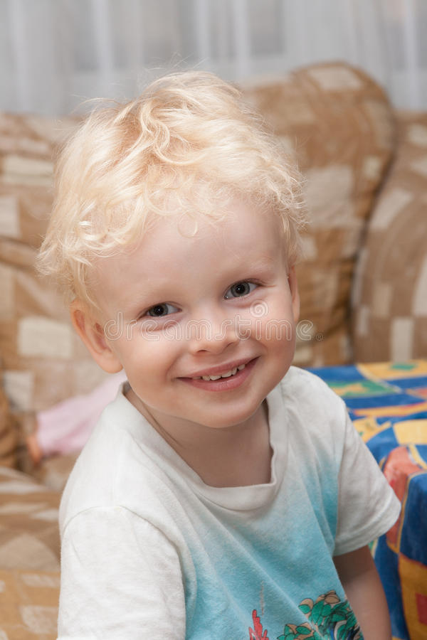 Portrait of cute smiling kid stock photography