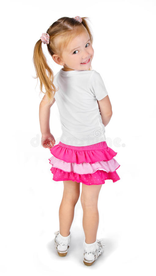 Download Portrait Of Cute Smiling Little Girl Stock Photo - Image: 25886640