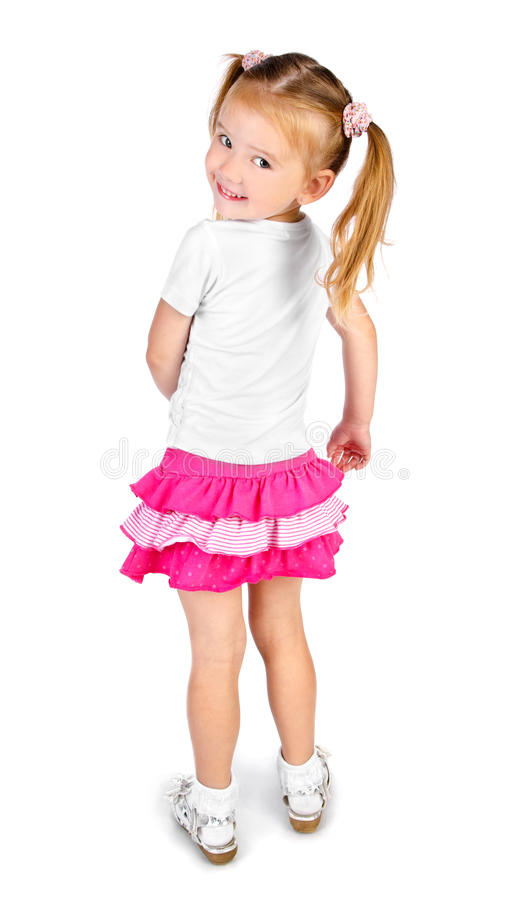 Portrait of cute smiling little girl stock images
