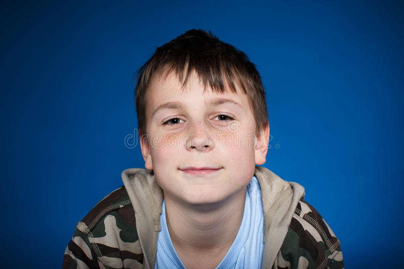 Portrait of a cute teen royalty free stock image