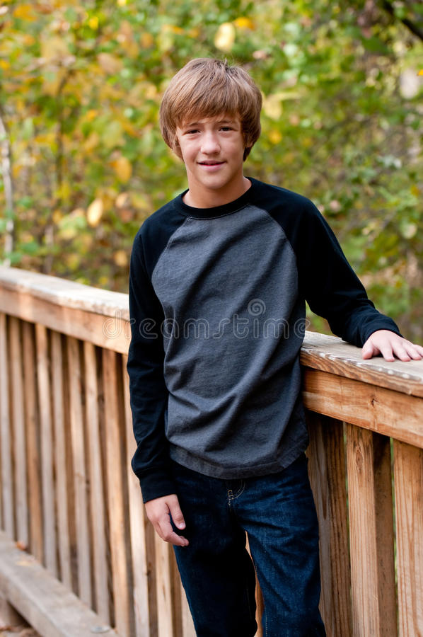 portrait of cute teen boy outdoors stock photo image of. Black Bedroom Furniture Sets. Home Design Ideas