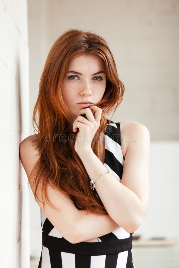 Young white redhead