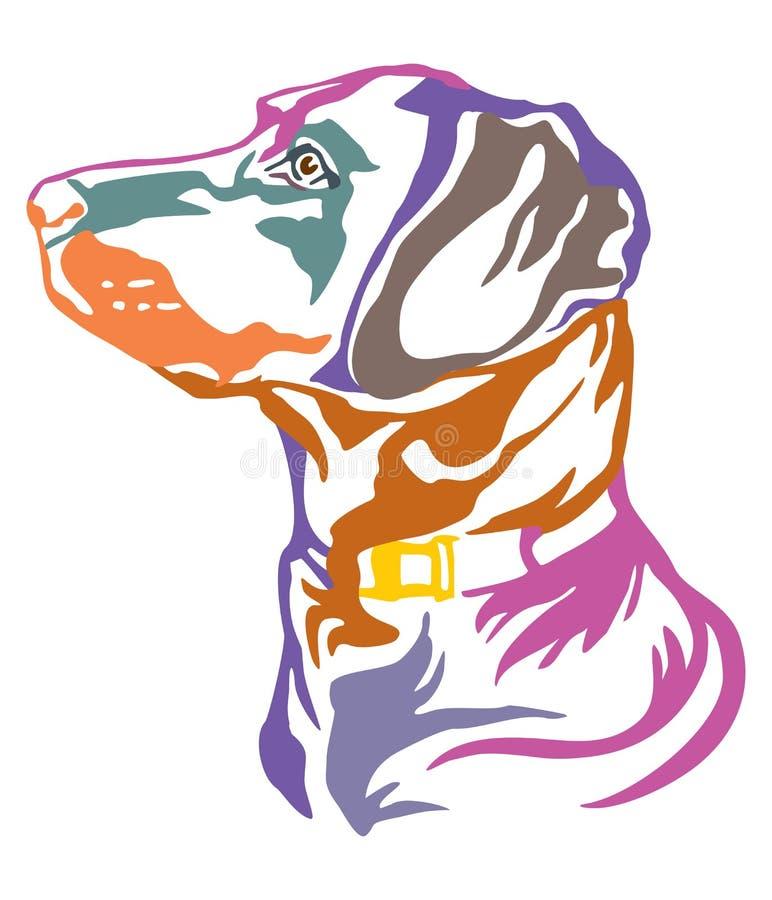 Portrait décoratif coloré d'illustration de vecteur de labrador retriever de chien illustration libre de droits