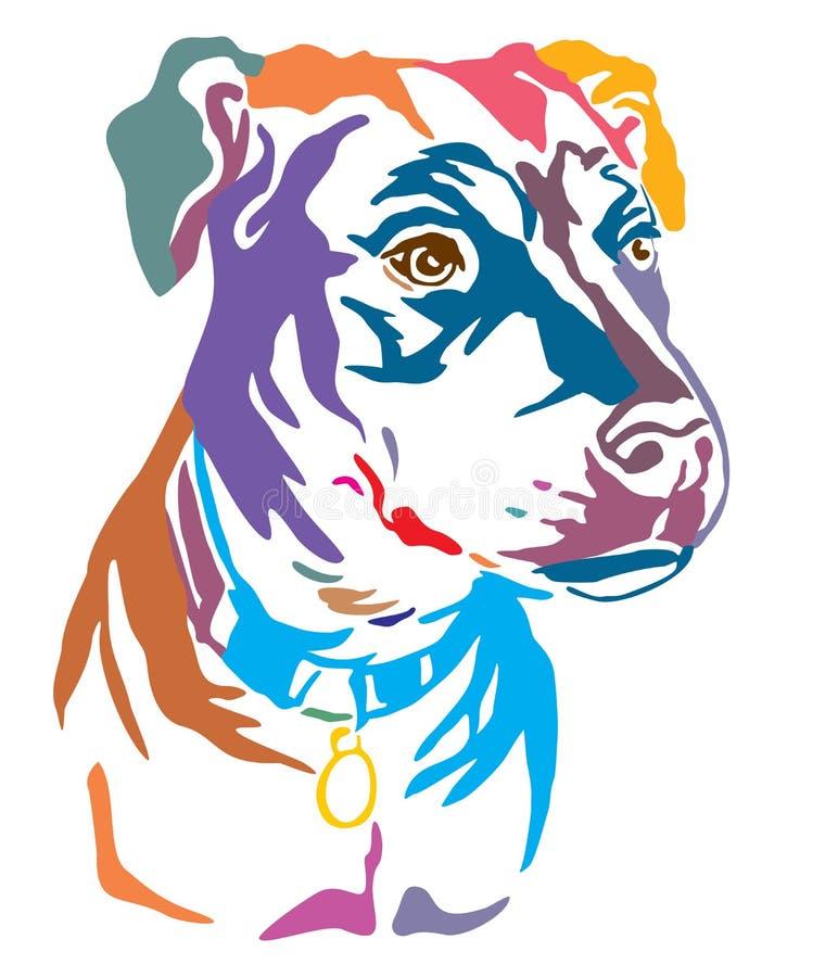 Portrait décoratif coloré d'illustration métisse de vecteur de chien illustration de vecteur