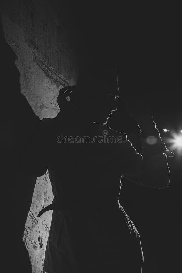 Portrait démodé noir et blanc photo libre de droits