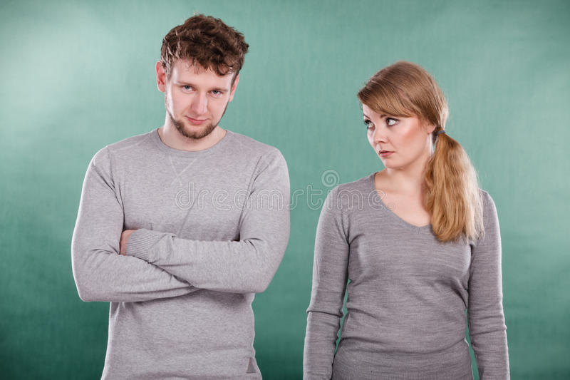 Portrait déprimé triste de couples image stock