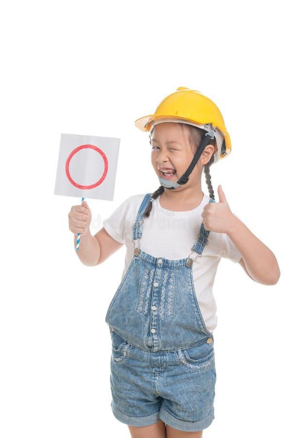 Portrait d'âge mignon d'enfant asiatique de fille 7 ans sur le fond blanc photographie stock libre de droits