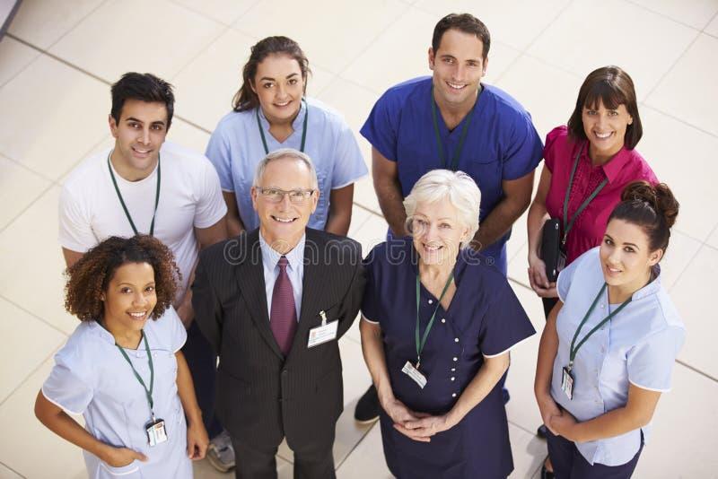 Portrait d'équipe médicale d'hôpital photos stock