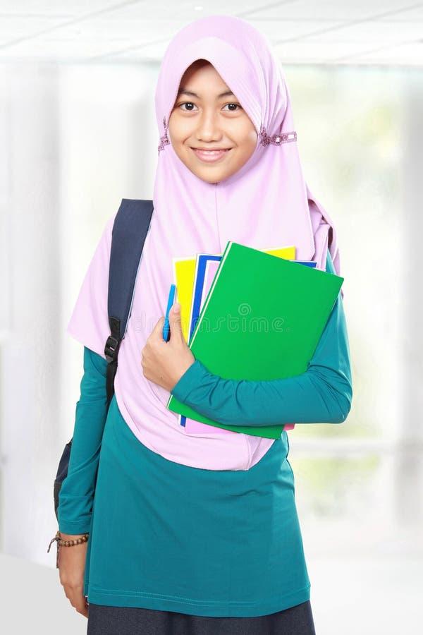 Portrait d'étudiant d'enfant de musulmans images stock