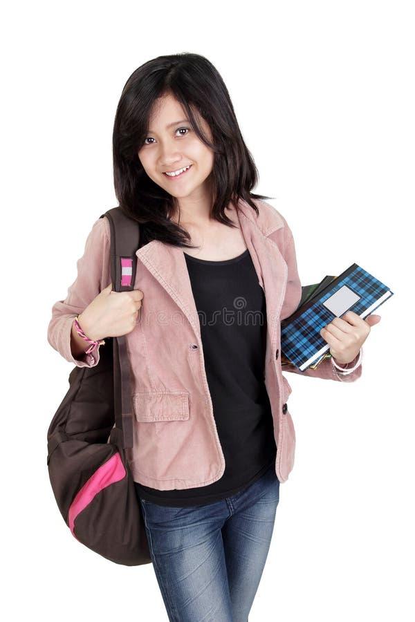 Portrait d'étudiante de collège image stock