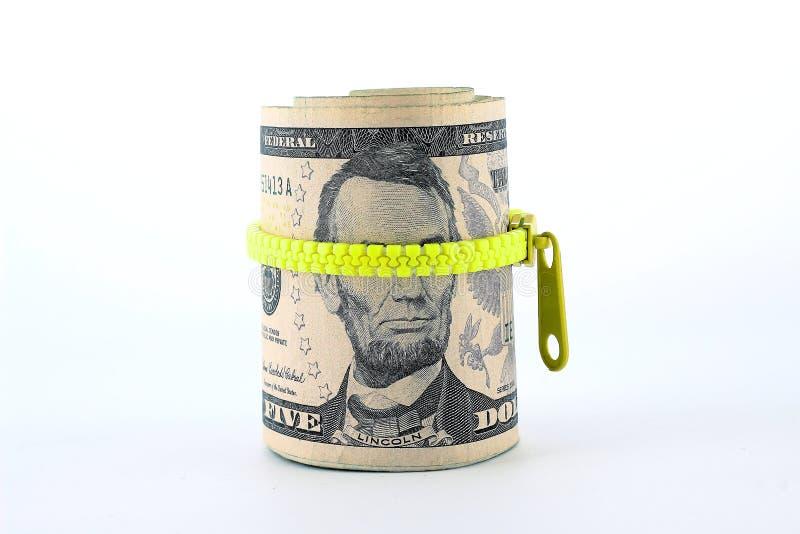 Portrait d'Abraham Lincoln sur le billet de cinq dollars photos libres de droits