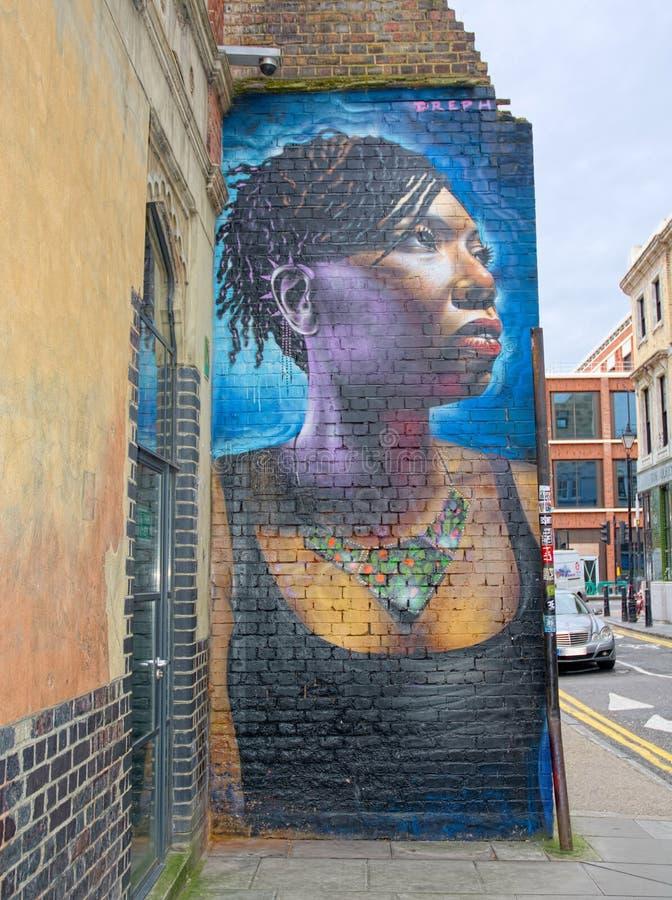 Portrait d'art de rue par Dreph images stock