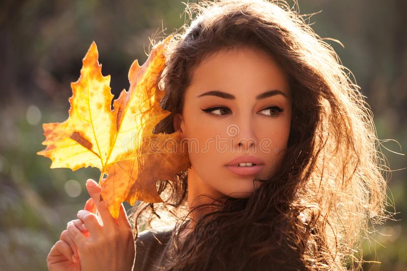Portrait d'Autumn Beauty photo stock