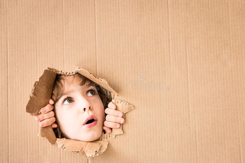 Portrait d'enfant inquiété images libres de droits