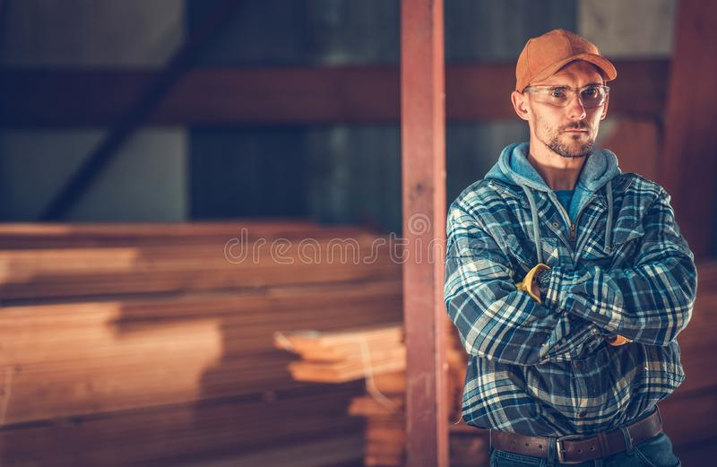 Portrait d'entrepreneur de construction photo stock