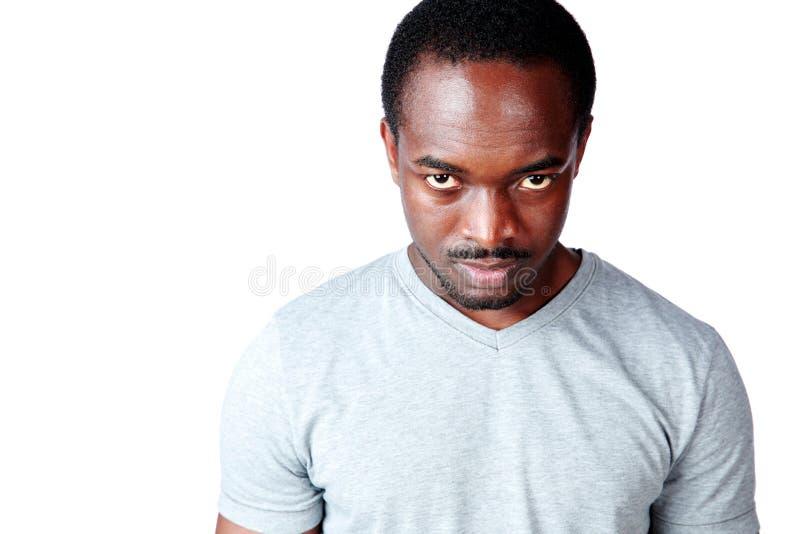 Portrait d'homme africain fâché image stock