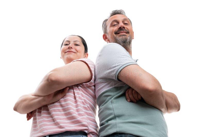 Portrait d'homme et de femme de dessous photo stock