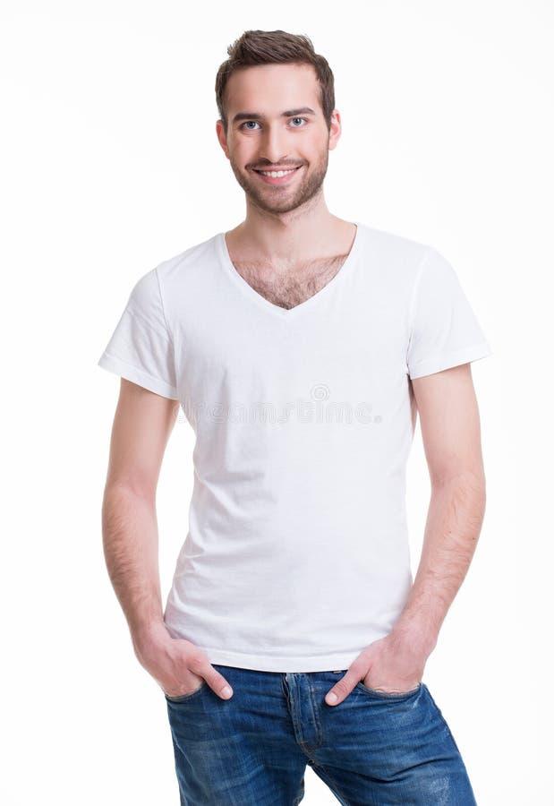 Portrait d'homme heureux de sourire image libre de droits