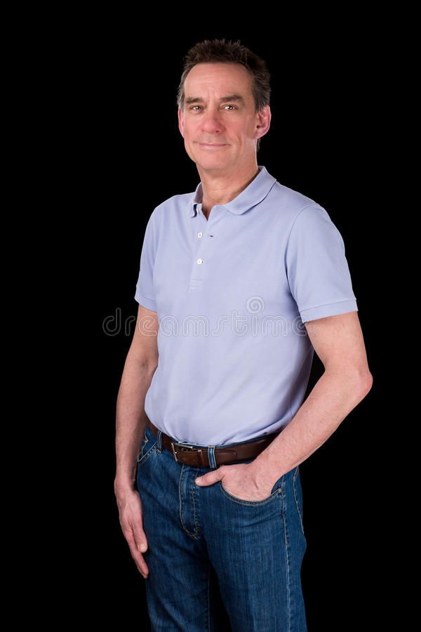 Portrait d'homme heureux de sourire bel photos stock