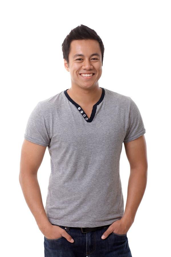 Portrait d'homme occasionnel de sourire heureux photographie stock