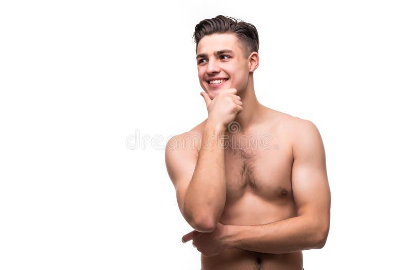 Portrait Dun Jeune Homme Agressif Musculaire Se Tenant