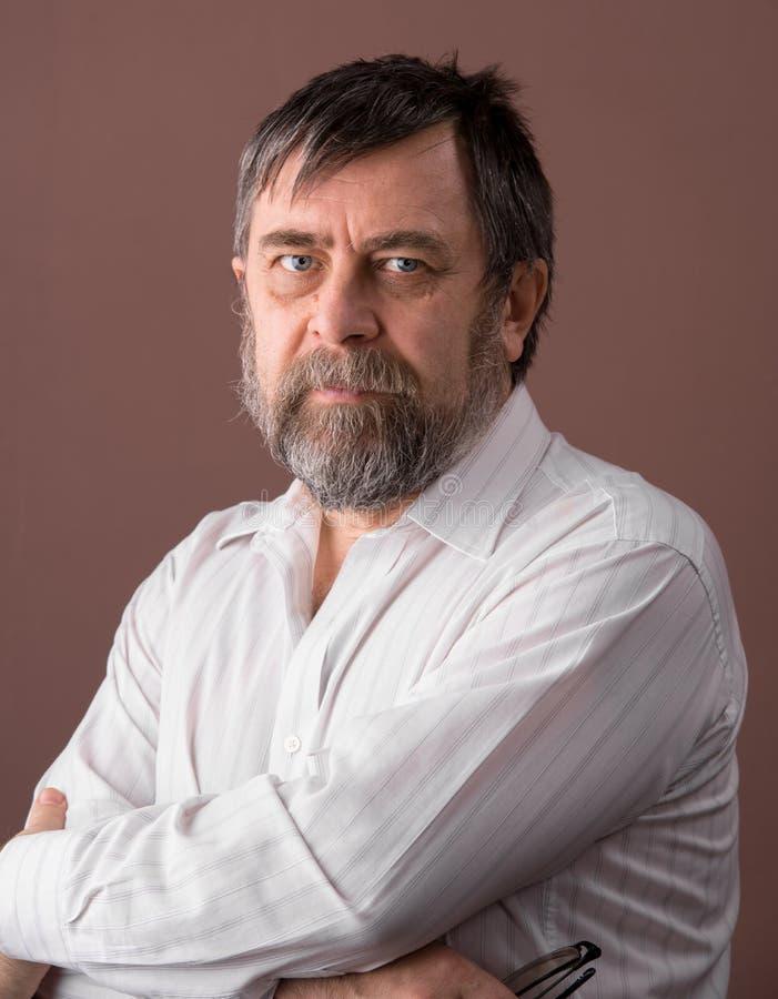 Portrait d'homme plus âgé image libre de droits