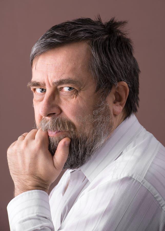Portrait d'homme plus âgé photos stock