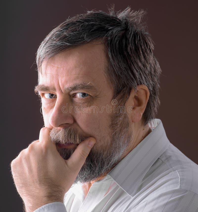 Portrait d'homme plus âgé photographie stock