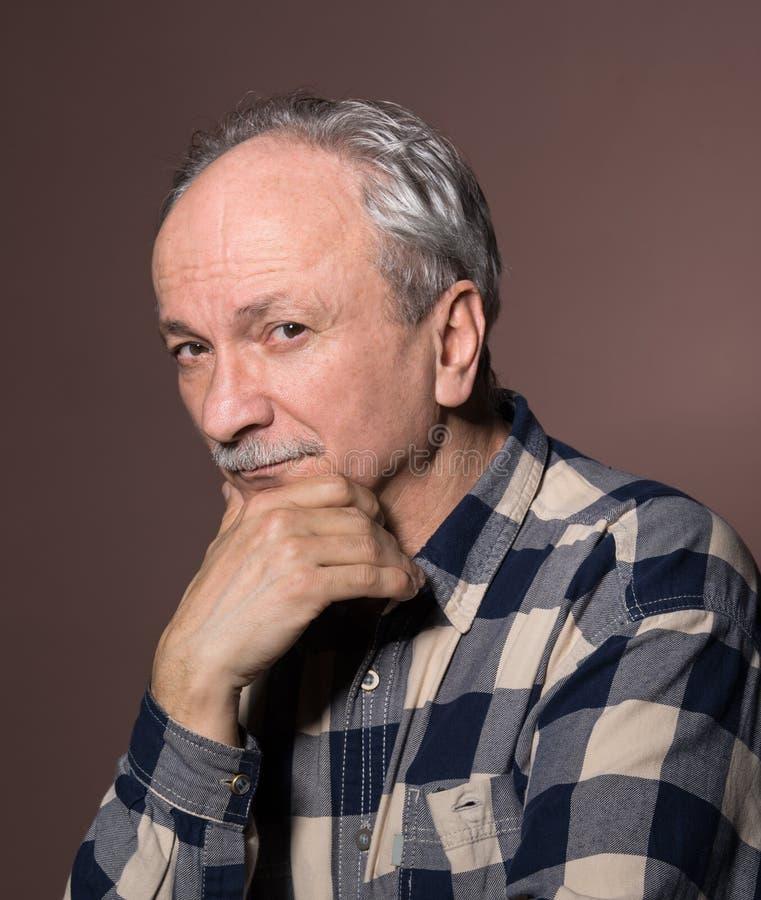 Portrait d'homme plus âgé images libres de droits