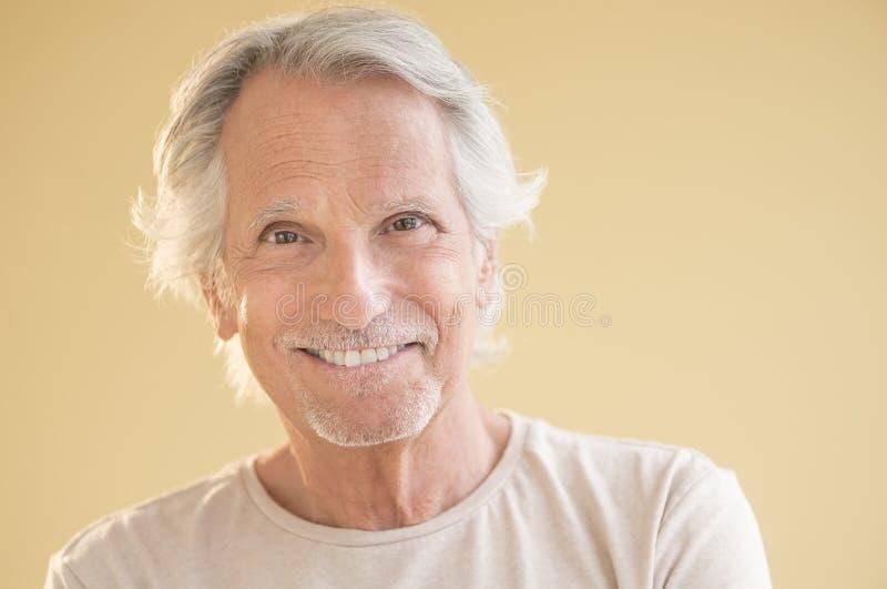Portrait d'homme supérieur heureux photographie stock