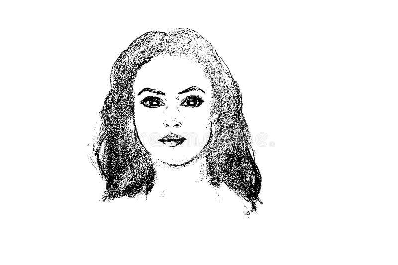 """Portrait d'illustration de """"Monica Bellucci """" illustration libre de droits"""