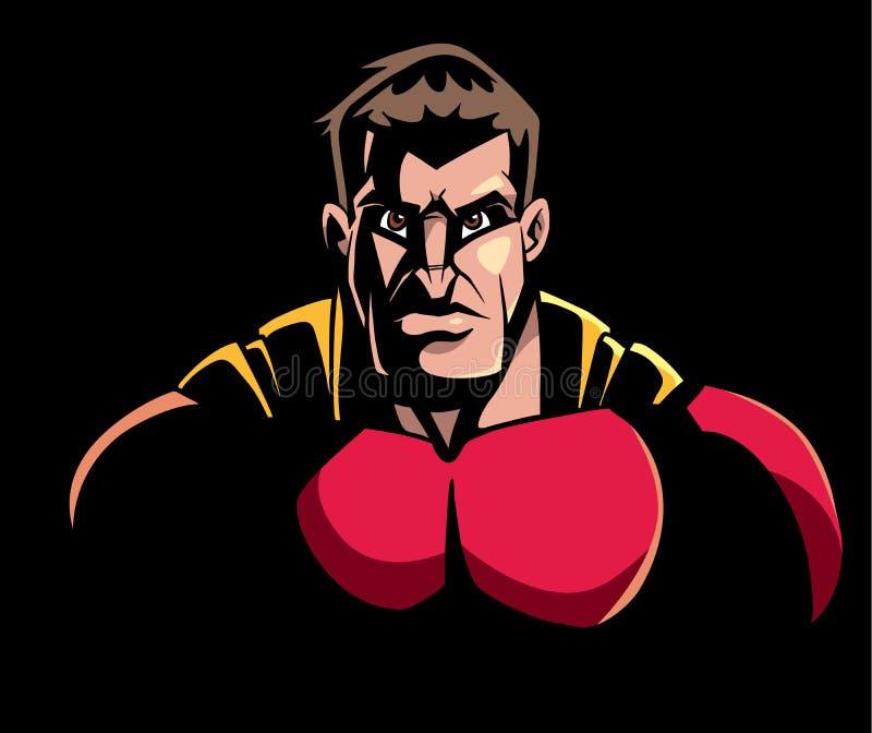 Portrait d'obscurité de super héros illustration de vecteur