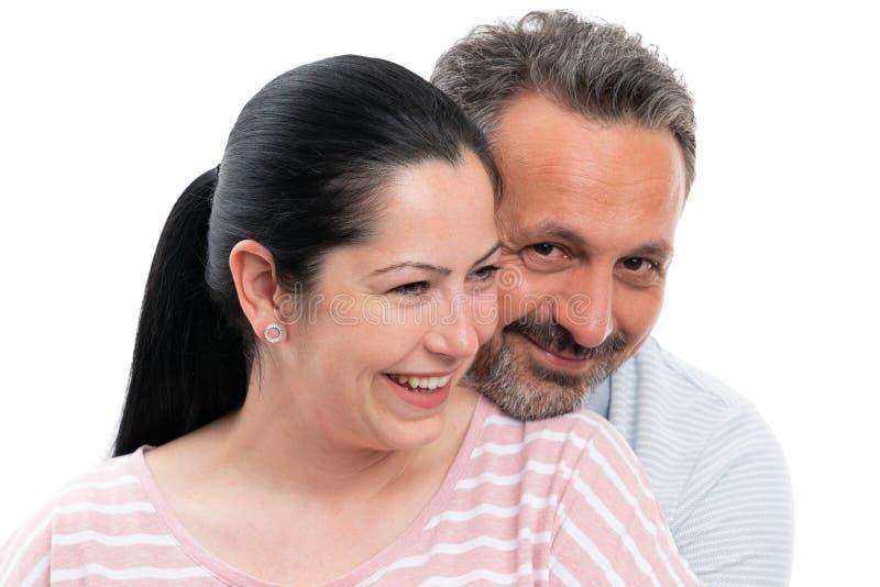 Portrait d'?treindre de couples photo libre de droits