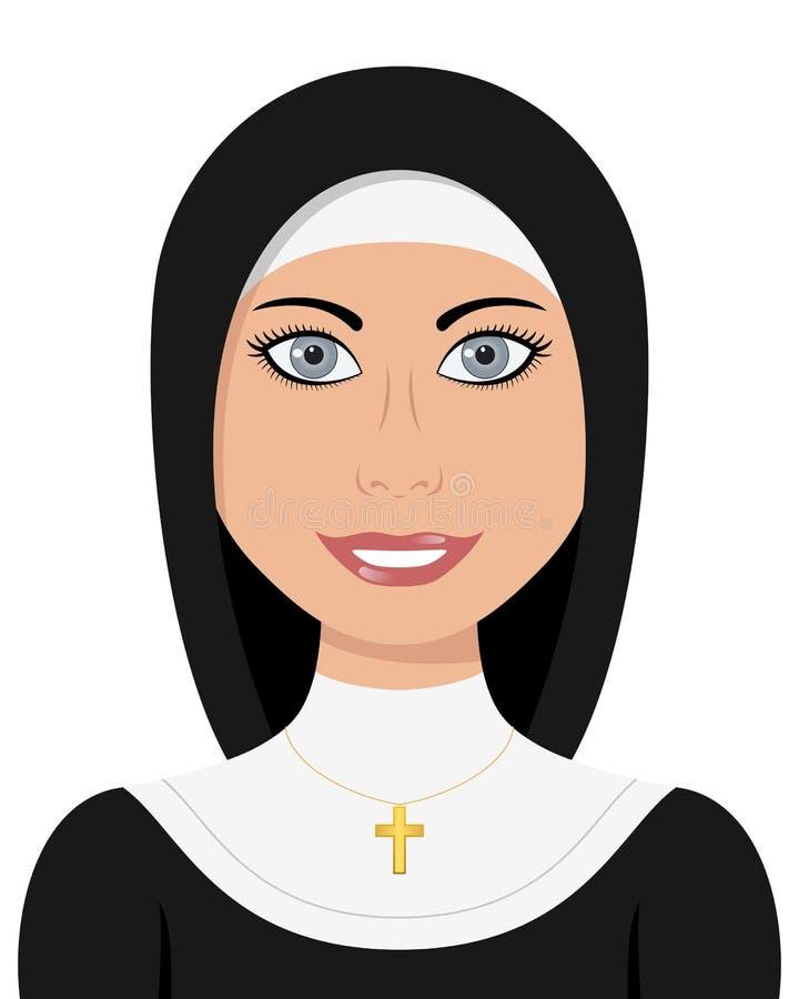 Femme de chrétienne de soeur de nonne illustration libre de droits