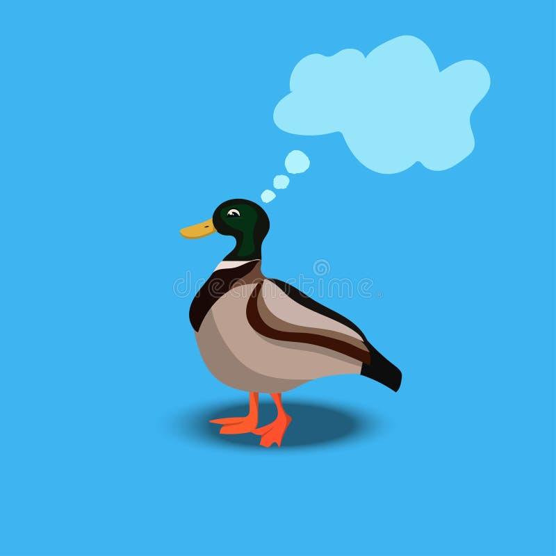 Portrait d'un canard mignon illustration de vecteur