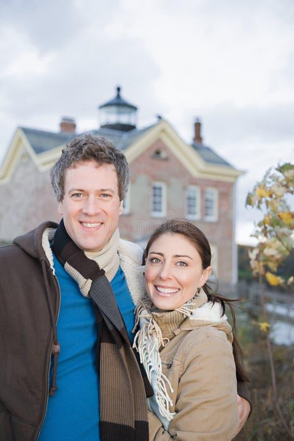 Portrait d'un couple hétérosexuel photo stock