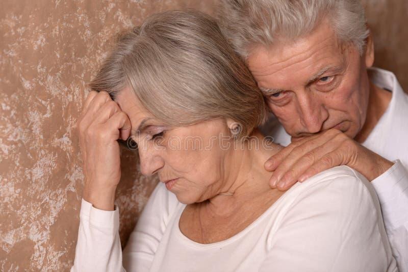 Portrait d'un couple plus ancien photo stock