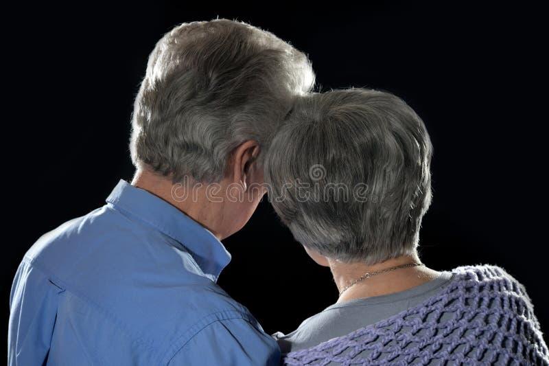 Portrait d'un couple plus ancien image stock